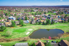 Aerial Of Golf Course In Monro...