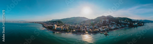 Obraz Puerto Vallarta Panoramic View of the Pier and the Board Walk - fototapety do salonu