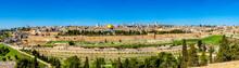 Panorama Of Jerusalem, The Wal...