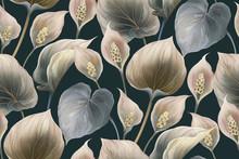 Calla Flowers Seamless Pattern...