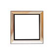 Empty square photo frame in modern style. Isolated on a white background.