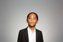 Studio Portrait Of A Boy Conte...
