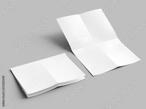 Sheet of paper folded to four Fototapet