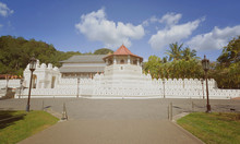 Temple Of The Sacred Tooth Relic In Kandy, Sri Lanka. The Temple Was The Houses For The Relic Of The Tooth Of Buddha During The Former Kingdom Of Kandy (With The Computer Color Effects)
