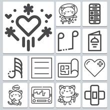 Doodle Icons Set ? Simple Set ...