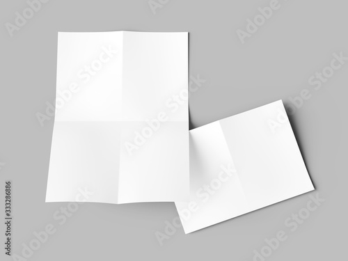 Fotografiet Sheet of paper folded to four