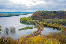 Mississippi River And Wooded B...