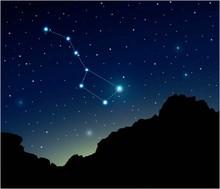 Constellation Big Dipper In De...