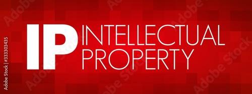 IP - Intellectual Property acronym, business concept background Tapéta, Fotótapéta