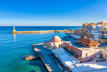 Aerial View Of Chania With The...