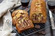 Leinwandbild Motiv Sweet marble cake with vanilla and chocolate
