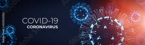 Fototapeta Coronavirus 3D render, COVID-19 pandemic obraz