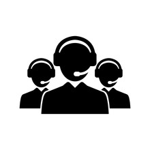 Call Center Icon. Online Help,...