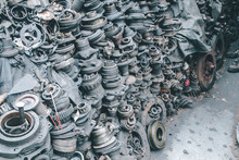 Closeup View Of Pile Of Old Ru...