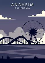 Poster Anaheim Landscape. Anah...