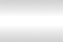 White And Gray Halftone Background. Abstract Dotted Background. Fade Gray Dot From Big To Small Dot.