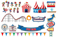 Large Set Of Circus Rides And ...