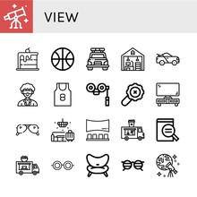 Set Of View Icons