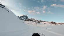 Riding A Snowmobile With A Tro...