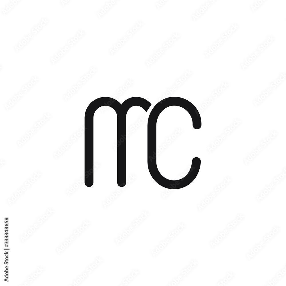 Fototapeta Initial Letter mc logo or cm logo vector design template