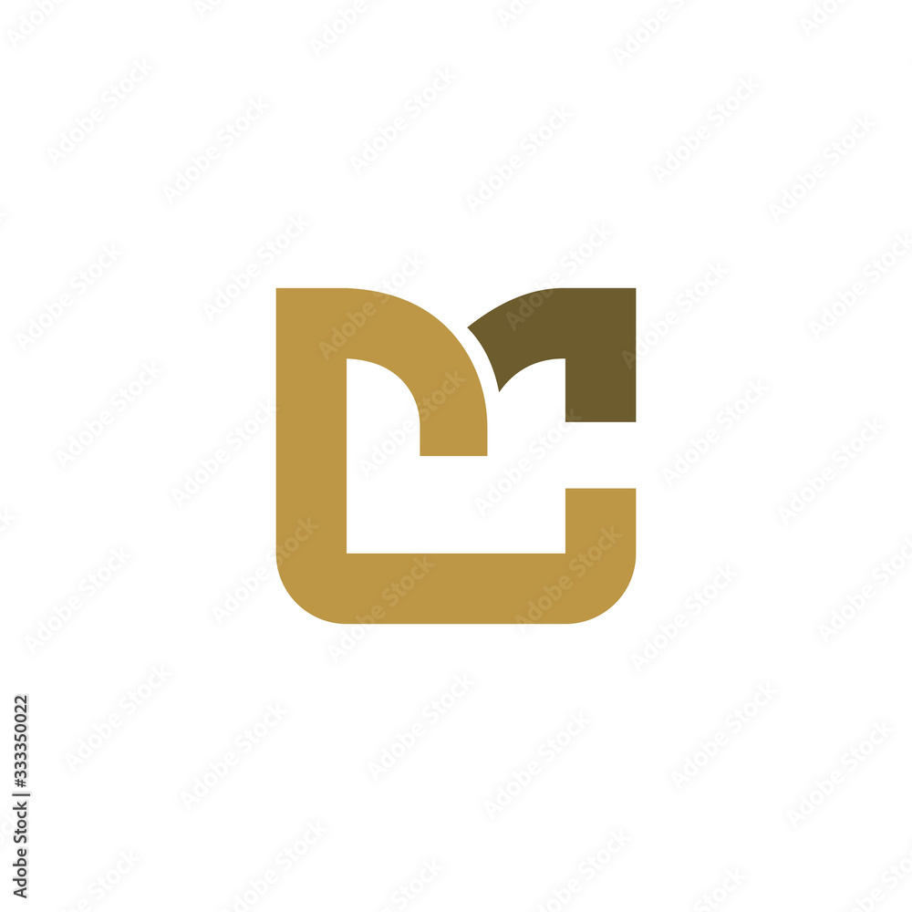 Fototapeta Initial Letter mc or cm logo design templates