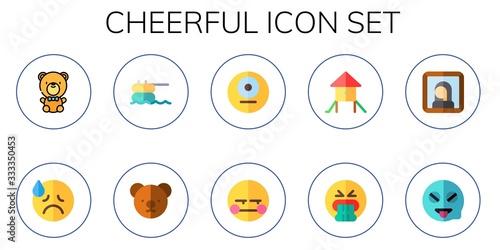 Fotografía cheerful icon set