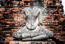 The Broken Buddha Image In Ayu...