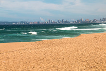 View Of Durban's Golden Mile From Umhlanga Beach