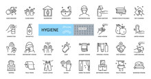 Hygiene Icons. Set Of 29 Image...