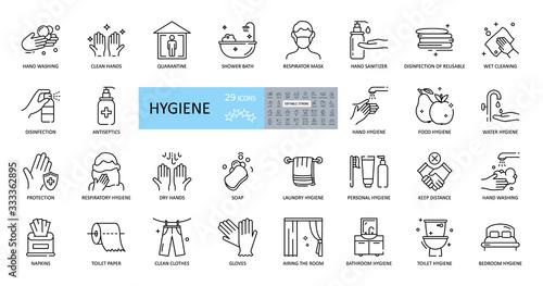 Hygiene icons Canvas Print