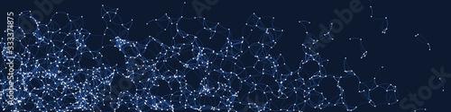 Photo Procedural Art Network Mesh background illustration