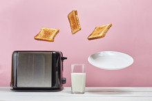 Toasts Flew Out Of Toaster. Ne...
