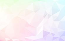 アブストラクト背景素材、ポリゴン風の虹色グラデーション