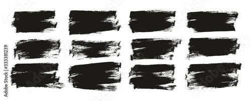 Fototapeta Flat Paint Brush Thin Half Background High Detail Abstract Vector Background Set  obraz