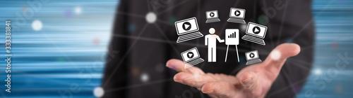 Fototapeta Concept of webinar obraz