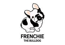 Cute French Bulldog Logo For Y...