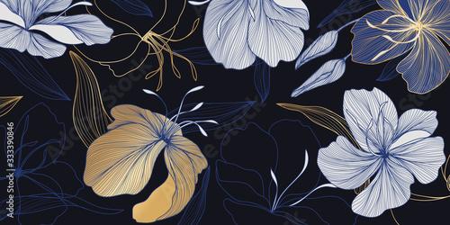 do-salonu-kwiatowy-wzor-niebiesko-zlote-k
