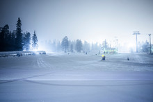 Ski Slope In Nights With Light...