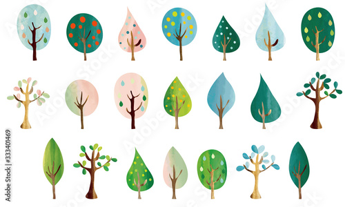 Fototapeta 北欧風 色々な樹々 obraz