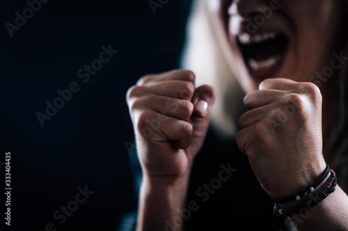 Obraz na płótnie Rage – Portrait of an Angry Woman