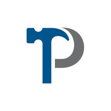 Letter P Hammer Building Services, Repair, Renovation And Construction Logo Design