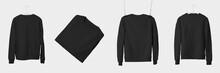 Mockup Of Black Textile Sweats...