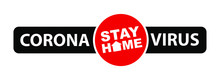 Stay Home Sign On White Backgr...
