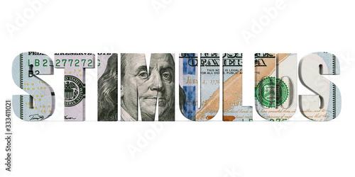 Fototapeta Economic Stimulus US Dollar Illustration obraz