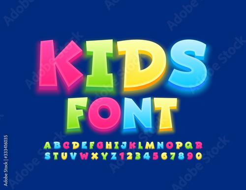 Fotomural Vector Kids Font