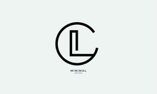 Alphabet Letter Icon Logo CL Or LC
