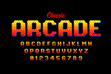 Retro Style Arcade Games Font,...