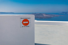 No Trespassing Sign In Front O...