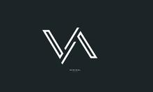 Alphabet Letter Icon Logo VA