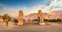 Colossi Of Memnon At Sunset